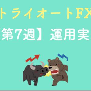 【少額で運用できる】トライオートFXの実績を公開(第7週目)
