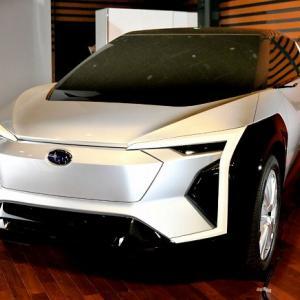 スバル「新型ソルテラ」初のフルEVを世界初公開!トヨタ共同開発で22年夏に発売へ!
