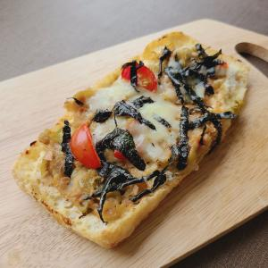 トースターで簡単!油揚げピザ