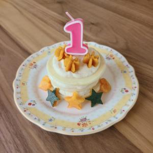 卵・乳製品・小麦粉不使用! 1歳お誕生日ケーキ