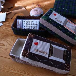 【年金暮らしの手芸生活】パッチワークのソーイングボックスと手作り人形ニーナのスモック
