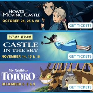 10月〜 アメリカの映画館でジブリフェスタ2021開催!