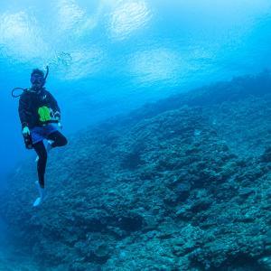 沖縄移住のリピーター様と砂辺でファンダイビング