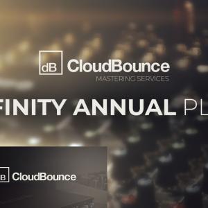 マスタリングを瞬時に完了させるオンライン自動マスタリングサービス、CloudBounce「 Infinity Annual Mastering Services Plan」の年間サブスクリプションが75%OFF、49ドルに!!!