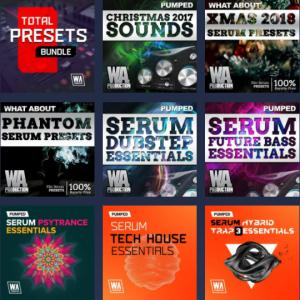 【超大型セール】総計3000以上のSerum, Sylenth1, Spire用プリセットパック26製品を収録した、究極のプリセットメガバンドル、W.A. Production「Total Presets Bundle」が97%OFF、8€過去最安に!!!!