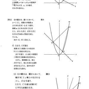 都立八王子東高校2021年度数学独自作成考査問題2.関数のグラフ 問題