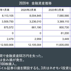 金融資産公開 2020年3月末