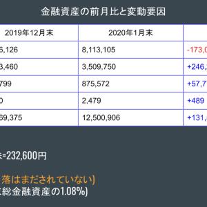 金融資産公開 2020年1月末