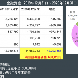 金融資産公開 2020年12月末
