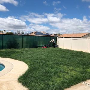 アメリカの芝生のある家@テメキュラ、CA