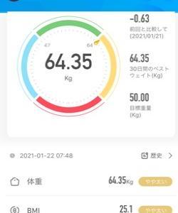 19日目 68.55kg→64.35g (-4.20kg) 毎日、生クリーム