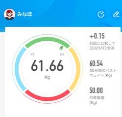 53日目 68.55kg→61.66kg (-6.89kg) 花粉がキツイ