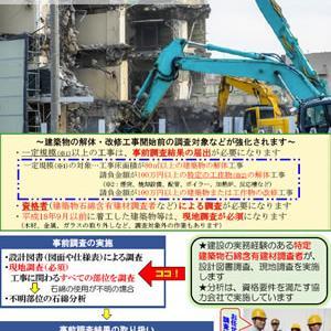 一定規模の解体・改修工事前にはアスベスト事前調査の結果の届出が必要