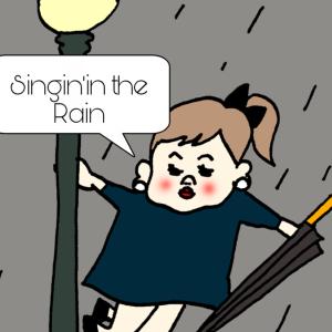 雨の異人館通りの話。
