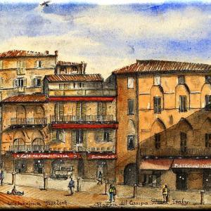 カンポ広場 イタリア、シエナ  Campo Piazza, Siena