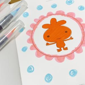 カラー筆ペンで楽しむ色育お茶会