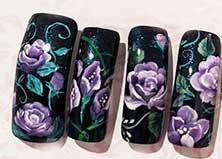トールペイントスタイルネイル やり方 薔薇の描き方 材料 フラワーネイル