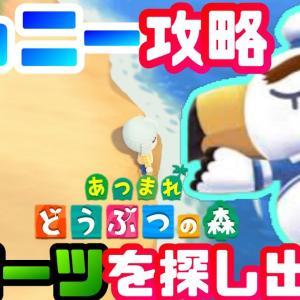 【あつ森】砂浜に打ち上げられたジョニーを救い出せ!ジョニー攻略!そのカギはつうしんそうちのパーツ!?【あつまれどうぶつの森攻略】【あつまれどうぶつの森】【通信装置パーツ】【ジョニー】