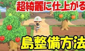 【あつ森】超綺麗な果樹園の作り方!初心者でも簡単に島整備できる方法とコツを教えるぞ!【あつまれどうぶつの森】