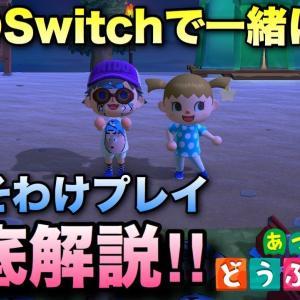 【あつ森】おすそわけプレイ可能!1台のSwitchで一緒に遊ぶやり方を解説!