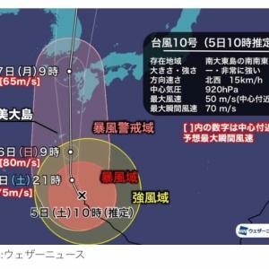 2020台風10号記録①我が家の防災対策公開