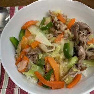 【おうちごはん】豚と冷凍野菜で和風あんかけ