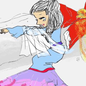②天上の虹 但馬皇女 美しい皇女の悲しみの絵。