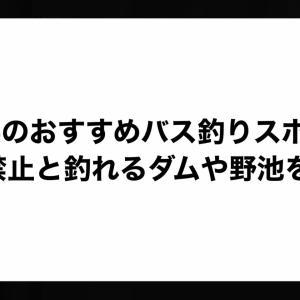 千葉県のおすすめバス釣りスポット!釣り禁止と釣れるダムや野池を紹介。