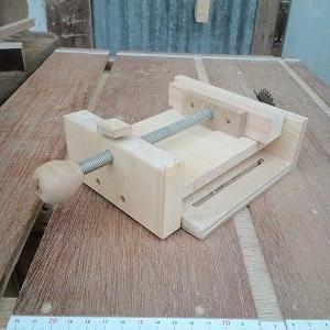 自作 ドリルスタンド用バイスの作り方