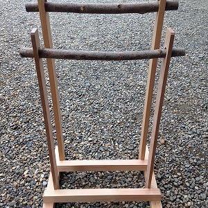 自作 傘立て (傘を掛けるタイプが作りやすくて便利です)