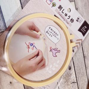 100均の刺繍グッズ★初めての刺繍は難しすぎた件ww
