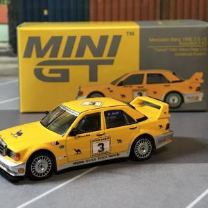1/64 MINI GT メルセデス ベンツ 190E 2.5-16 エボリューション IIYellow Pages 200 Kyalami 1990 #3 camel