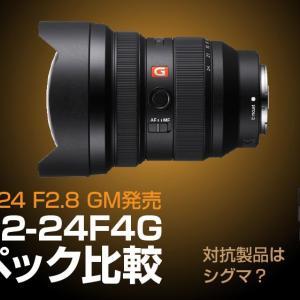 FE12-24mmF2.8GMをFE12-24mmF4Gとスペック比較