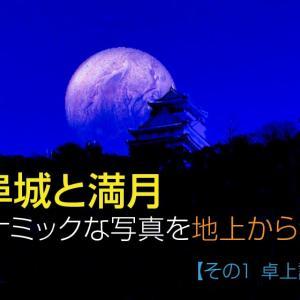岐阜城と満月のダイナミックな写真を地上から狙う【企画1】