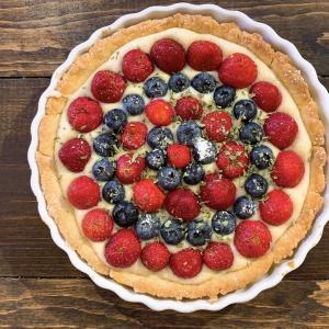 カスタードベリーパイ Independence Day Pie