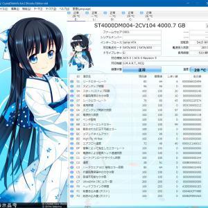 持ってるHDDとSSDのS.M.A.R.T.情報