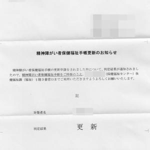 精神障がい者保健福祉手帳更新のお知らせキター!!!