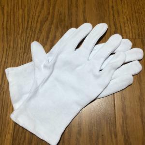 桃太郎ぶどうと手袋