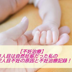 【不妊治療】1人目は自然妊娠だった私の2人目不妊の原因と不妊治療記録!