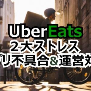 Uber Eatsの2大ストレスはアプリ不具合と運営の対応です