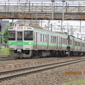 とかち6号が仕事を終えて札幌運転所に帰った。6月22日(月)