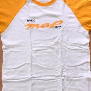 白×黄のラグランTシャツ