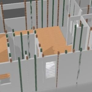 #15 柱の位置を3D化中 モーブーの節約ホーム 一条工務店