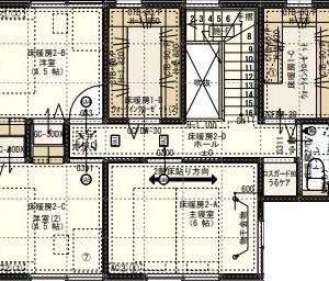 #25 一条 4x3マスの6畳寝室で4人分の布団を敷く