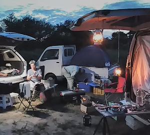 キャンプのダブルヘッダー