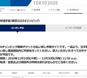 Tokyo 2020 残念ですが・・・