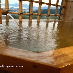 雄琴温泉「雄山荘」高台にある開放感たっぷり客室露天風呂