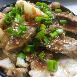 5/23 ~ 焼き肉丼-菜園にんにくをのせて- ~