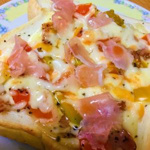 7/3 ~ 菜園トマトと生ハムのピザトースト ~