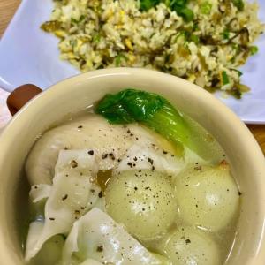 4/4 ~高菜チャーハンと玉ねぎと手羽先のスープ~